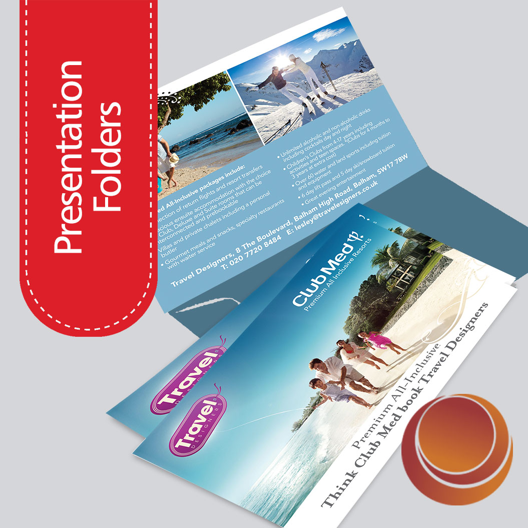 Full colour Interlocking Presentation Folders Printing