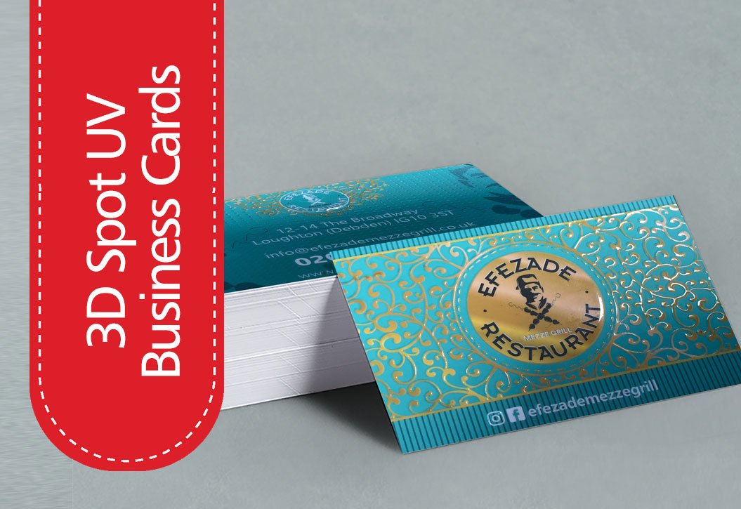 3D Spot UV Business Cards printing