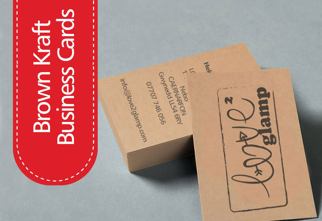 Brown Kraft Business Cards printing