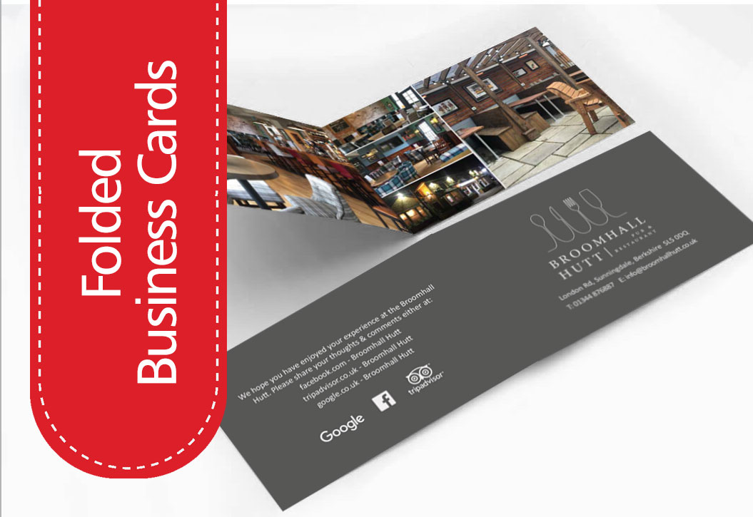 Restaurant, hotel and Bar information cards printing