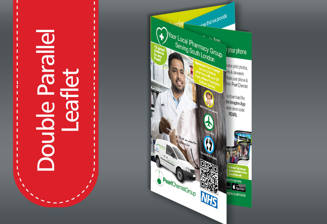Double Parallel fold leaflet printing