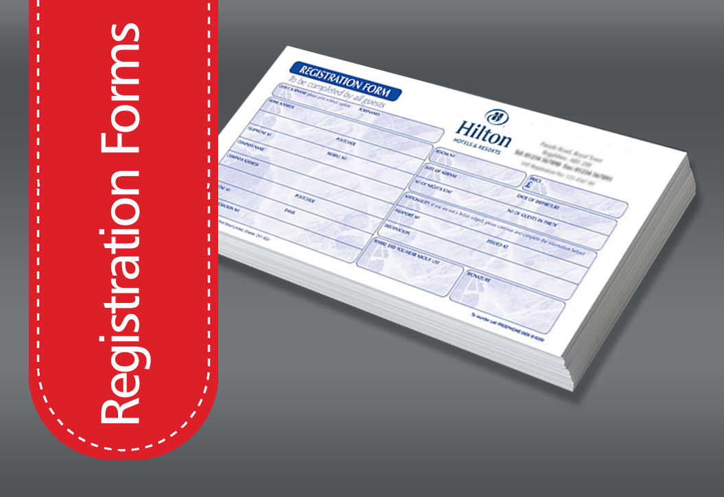 Hotel Registration Form printing