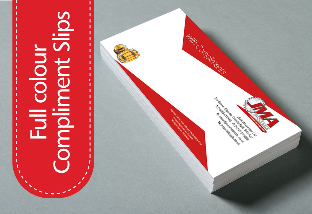 Full Colour Compliment Slip printing